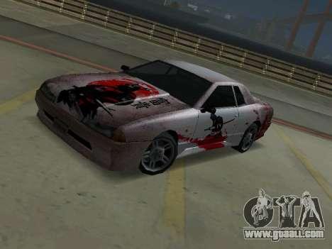 New Elegy Paintjob Samurai for GTA San Andreas left view
