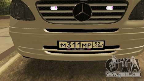 Mercedes-Benz Vito FSB for GTA San Andreas back view