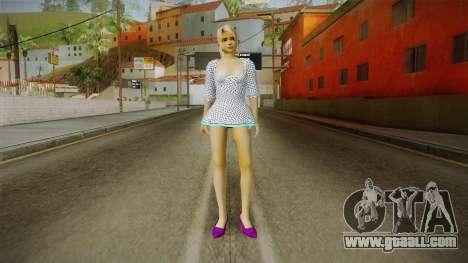 Marie Rose Skin in White Dress for GTA San Andreas second screenshot