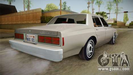 Chevrolet Caprice 1986 for GTA San Andreas left view