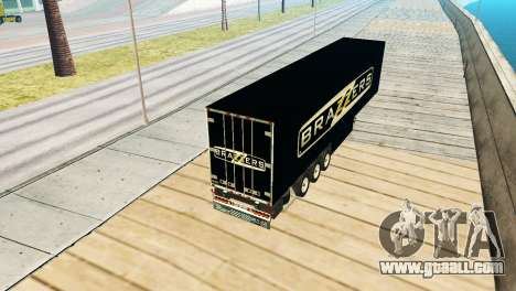 Trailer Brazzers for GTA San Andreas back left view