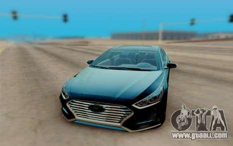 Hyundai Sonata 2018 for GTA San Andreas right view