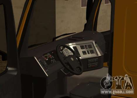 Volvo FM13 for GTA San Andreas inner view