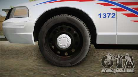 Ford Crown Victoria Police v2 for GTA San Andreas back view