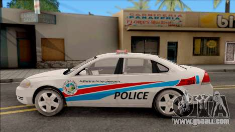 Chevrolet Impala Las Venturas Police Department for GTA San Andreas left view
