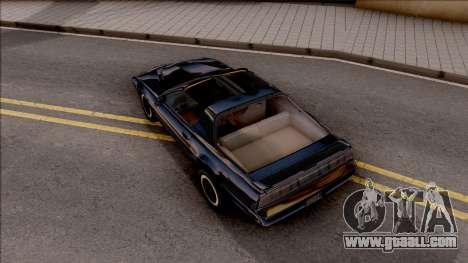 Knight Rider KITT 2000 for GTA San Andreas back view