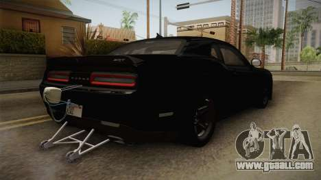 Dodge Challenger 2017 Drag for GTA San Andreas right view