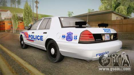 Ford Crown Victoria Police v2 for GTA San Andreas left view