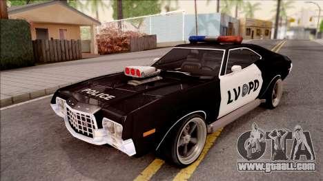 Ford Gran Torino Police LVPD 1972 v4 for GTA San Andreas
