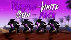Iridescent Pink And White Pack Of Weapons