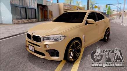 BMW X6M F86 2016 SA Plate for GTA San Andreas