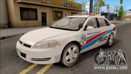 Chevrolet Impala Las Venturas Police Department for GTA San Andreas