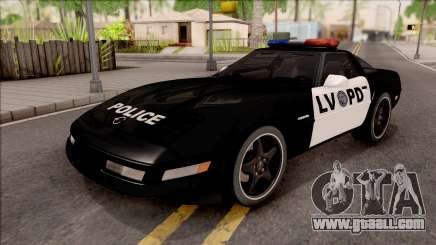 Chevrolet Corvette C4 Police LVPD 1996 for GTA San Andreas