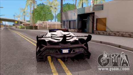 Lamborghini Veneno Police Las Venturas for GTA San Andreas back left view
