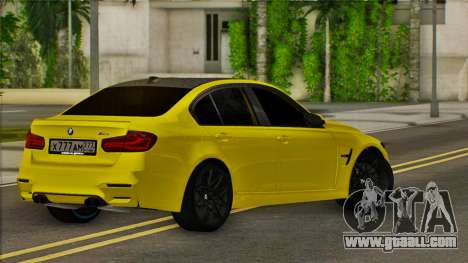 BMW M3 F30 for GTA San Andreas back left view