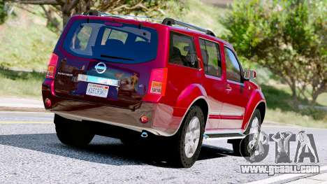 GTA 5 Nissan Pathfinder 2007 back view