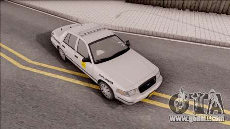 Ford Crown Victoria 2007 Iowa State Patrol for GTA San Andreas right view