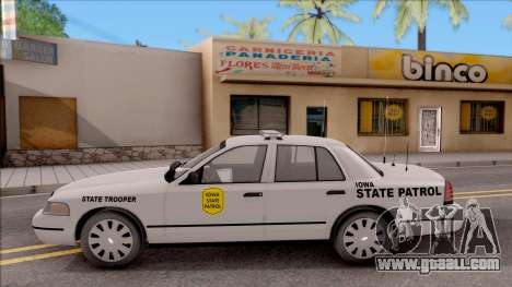 Ford Crown Victoria 2007 Iowa State Patrol for GTA San Andreas left view
