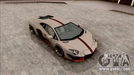 Lamborghini Aventador Shark New Edition White for GTA San Andreas right view