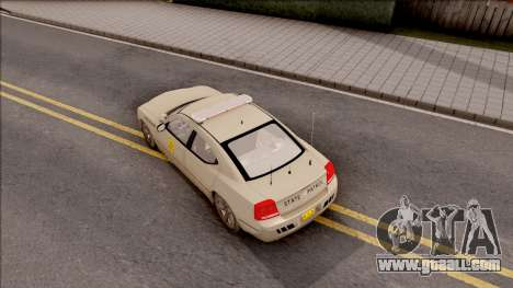 Dodge Charger Gold 2007 Iowa State Patrol for GTA San Andreas back view