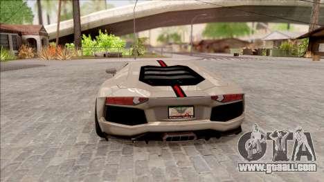 Lamborghini Aventador Shark New Edition White for GTA San Andreas back left view