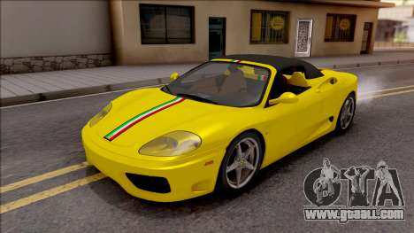Ferrari 360 Spider US-Spec 2000 IVF for GTA San Andreas upper view