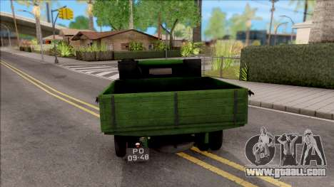 GAZ-42 1940 for GTA San Andreas back left view