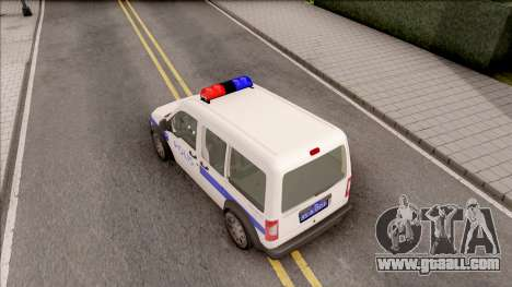 Ford Tourneo Connect K210S Turkish Police for GTA San Andreas back view