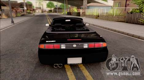 Nissan 200SX Cabrio for GTA San Andreas back left view
