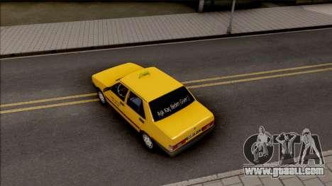 Tofas Sahin Taxi 1999 v2 for GTA San Andreas back view
