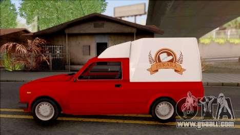 Zastava Poly Pekara for GTA San Andreas left view