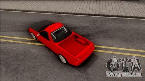 Nissan Skyline R32 Pickup Drift Monster Energy for GTA San Andreas back view
