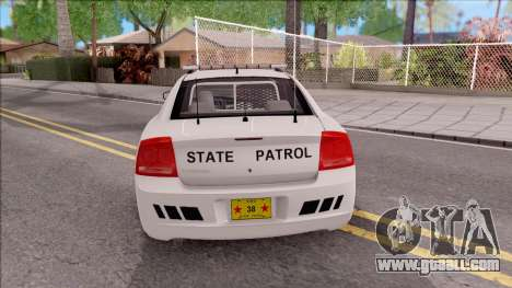 Dodge Charger Silver 2007 Iowa State Patrol for GTA San Andreas back left view
