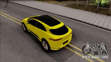 Jaguar I-Pace 2018 for GTA San Andreas back view
