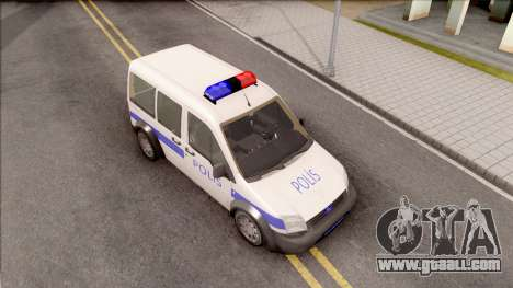 Ford Tourneo Connect K210S Turkish Police for GTA San Andreas right view
