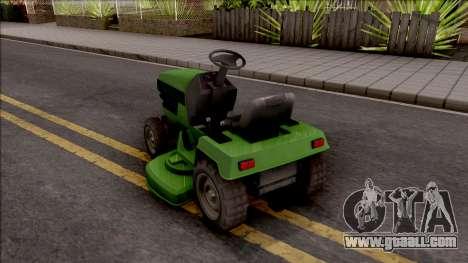 GTA V Jacksheepe Lawn Mower IVF for GTA San Andreas left view
