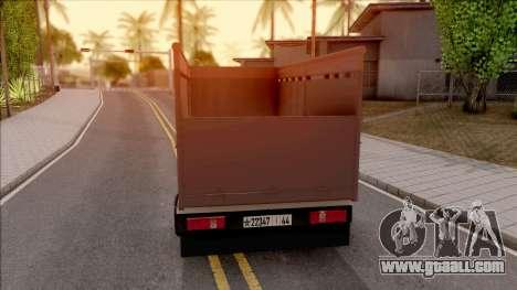 Mitsubishi Fuso Truck for GTA San Andreas back left view
