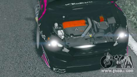 GTA 5 Zlayworks Mitsubishi Lancer Evo Z back view