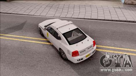 Dodge Charger Silver 2007 Iowa State Patrol for GTA San Andreas back view