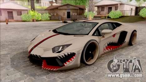 Lamborghini Aventador Shark New Edition White for GTA San Andreas