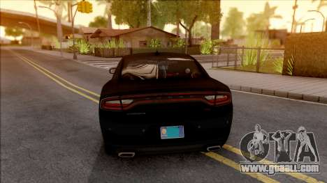 Dodge Charger Unmarked 2015 for GTA San Andreas back left view