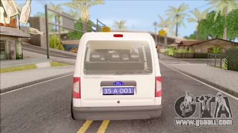 Ford Tourneo Connect K210S Turkish Police for GTA San Andreas back left view