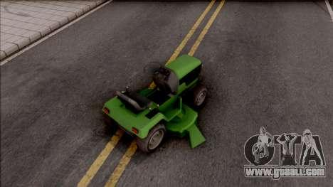 GTA V Jacksheepe Lawn Mower IVF for GTA San Andreas back left view