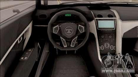 Truffade Nero from GTA V for GTA San Andreas back view