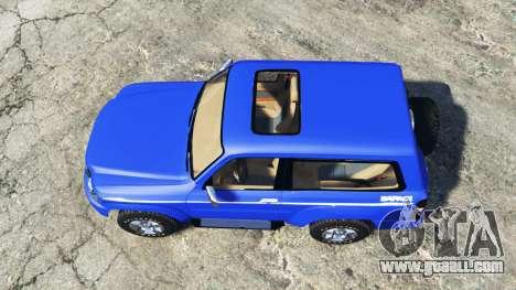 GTA 5 Nissan Patrol GL VTC (Y61) 2016 v1.1 [add-on] back view