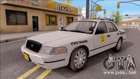 Ford Crown Victoria 2007 Iowa State Patrol for GTA San Andreas