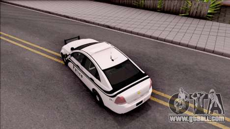 Chevrolet Caprice 2013 Ames Police Department for GTA San Andreas back view