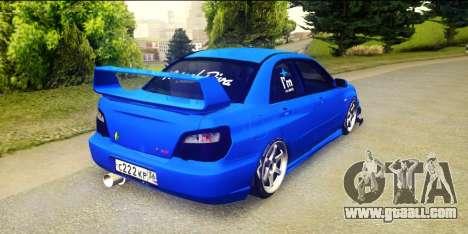 Subaru Impreza WRX STi 2004 (Virtual Diva) for GTA San Andreas left view