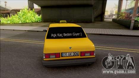 Tofas Sahin Taxi 1999 v2 for GTA San Andreas back left view