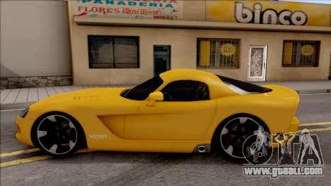 Dodge Viper SRT-10 for GTA San Andreas left view